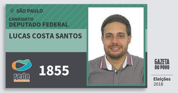 Santinho Lucas Costa Santos 1855 (REDE) Deputado Federal | São Paulo | Eleições 2018