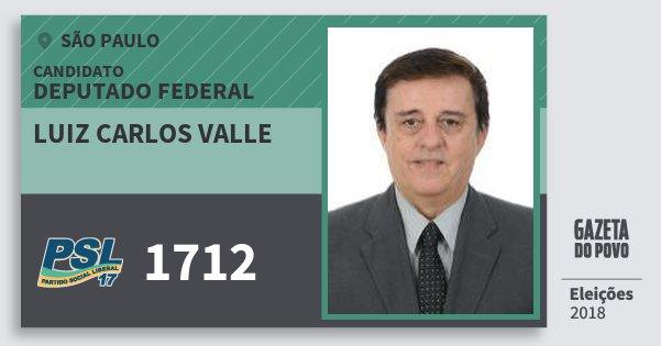 Santinho Luiz Carlos Valle 1712 (PSL) Deputado Federal | São Paulo | Eleições 2018
