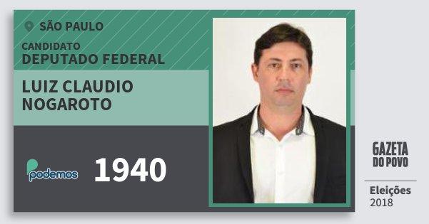 Santinho Luiz Claudio Nogaroto 1940 (PODE) Deputado Federal | São Paulo | Eleições 2018