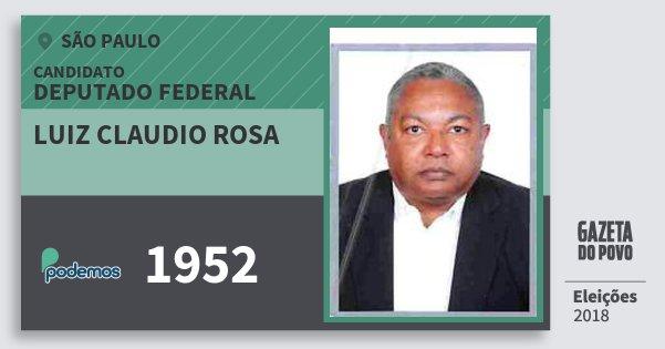 Santinho Luiz Claudio Rosa 1952 (PODE) Deputado Federal | São Paulo | Eleições 2018