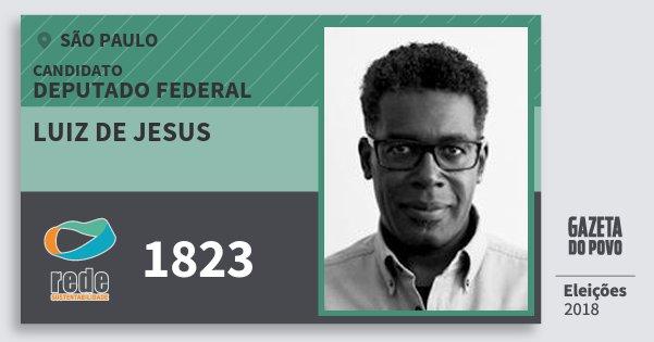 Santinho Luiz de Jesus 1823 (REDE) Deputado Federal | São Paulo | Eleições 2018