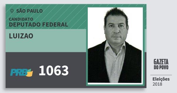 Santinho Luizao 1063 (PRB) Deputado Federal | São Paulo | Eleições 2018