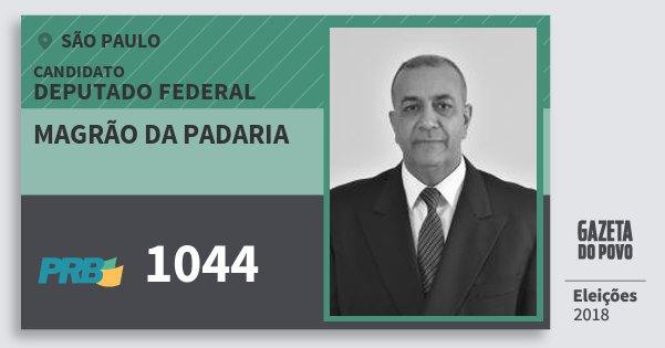 Santinho Magrão da Padaria 1044 (PRB) Deputado Federal | São Paulo | Eleições 2018
