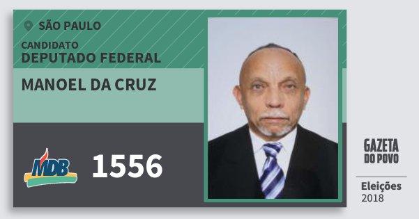 Santinho Manoel da Cruz 1556 (MDB) Deputado Federal   São Paulo   Eleições 2018