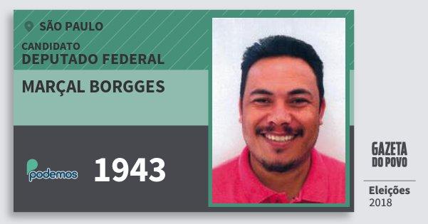 Santinho Marçal Borgges 1943 (PODE) Deputado Federal | São Paulo | Eleições 2018