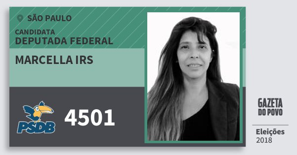Santinho Marcella Irs 4501 (PSDB) Deputada Federal | São Paulo | Eleições 2018