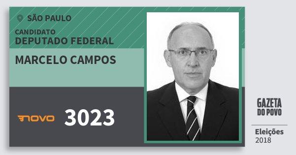 Santinho Marcelo Campos 3023 (NOVO) Deputado Federal | São Paulo | Eleições 2018