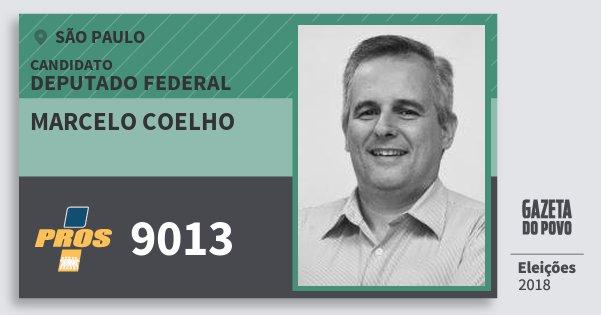 Santinho Marcelo Coelho 9013 (PROS) Deputado Federal | São Paulo | Eleições 2018
