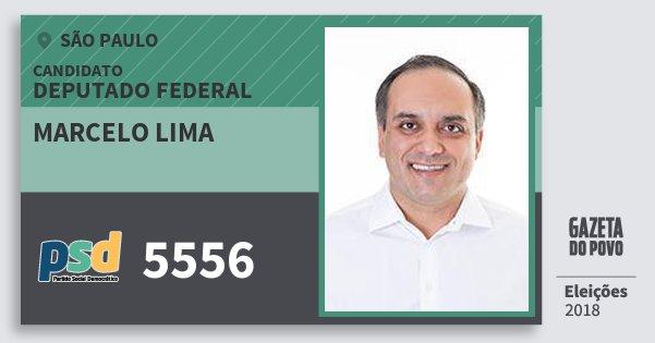 Santinho Marcelo Lima 5556 (PSD) Deputado Federal | São Paulo | Eleições 2018