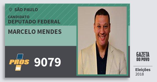 Santinho Marcelo Mendes 9079 (PROS) Deputado Federal | São Paulo | Eleições 2018