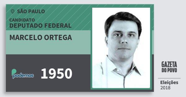 Santinho Marcelo Ortega 1950 (PODE) Deputado Federal | São Paulo | Eleições 2018