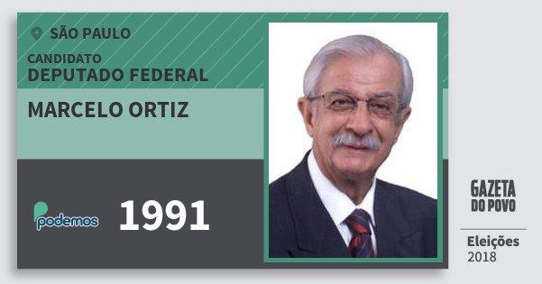 Santinho Marcelo Ortiz 1991 (PODE) Deputado Federal | São Paulo | Eleições 2018