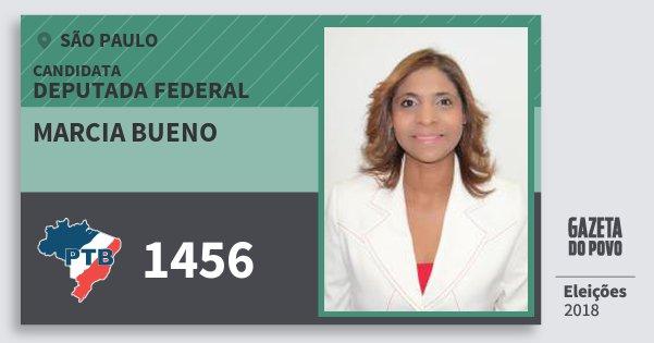 Santinho Marcia Bueno 1456 (PTB) Deputada Federal | São Paulo | Eleições 2018