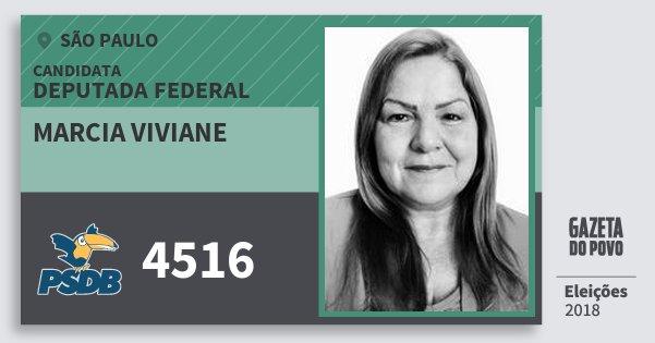 Santinho Marcia Viviane 4516 (PSDB) Deputada Federal | São Paulo | Eleições 2018