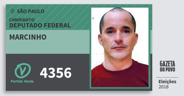 Santinho Marcinho 4356 (PV) Deputado Federal | São Paulo | Eleições 2018