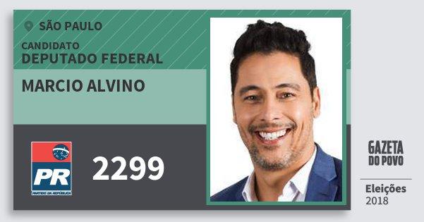 Santinho Marcio Alvino 2299 (PR) Deputado Federal | São Paulo | Eleições 2018