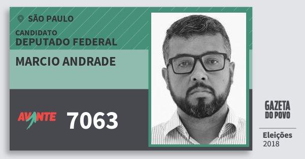 Santinho Marcio Andrade 7063 (AVANTE) Deputado Federal | São Paulo | Eleições 2018
