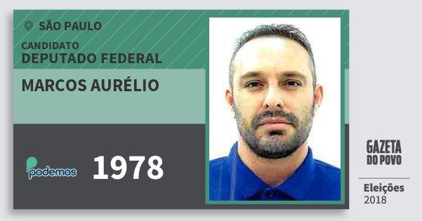 Santinho Marcos Aurélio 1978 (PODE) Deputado Federal | São Paulo | Eleições 2018