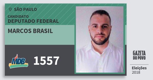 Santinho Marcos Brasil 1557 (MDB) Deputado Federal | São Paulo | Eleições 2018