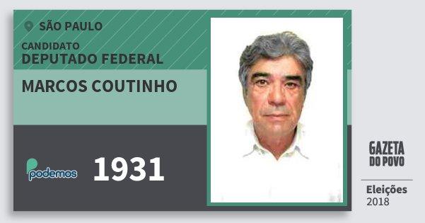 Santinho Marcos Coutinho 1931 (PODE) Deputado Federal | São Paulo | Eleições 2018