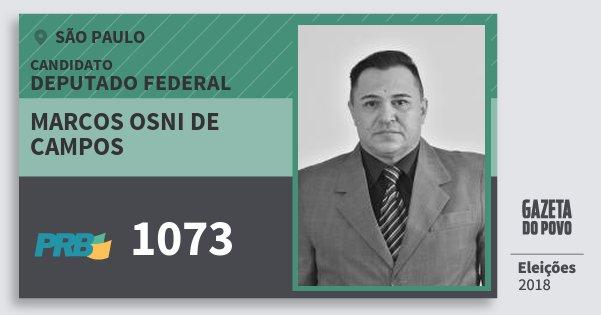 Santinho Marcos Osni de Campos 1073 (PRB) Deputado Federal | São Paulo | Eleições 2018