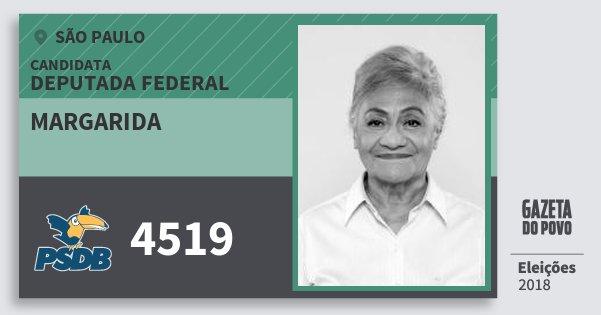 Santinho Margarida 4519 (PSDB) Deputada Federal | São Paulo | Eleições 2018