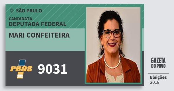 Santinho Mari Confeiteira 9031 (PROS) Deputada Federal | São Paulo | Eleições 2018