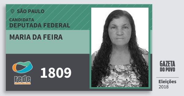 Santinho Maria da Feira 1809 (REDE) Deputada Federal   São Paulo   Eleições 2018