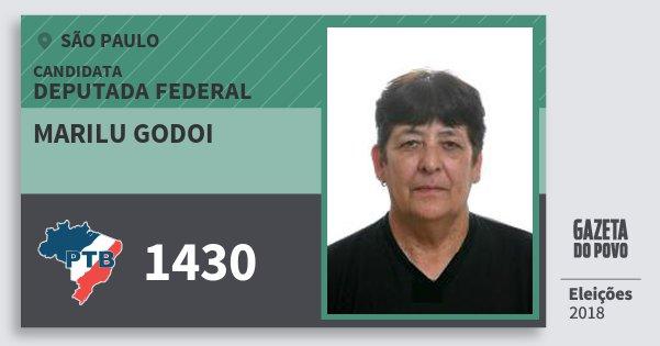 Santinho Marilu Godoi 1430 (PTB) Deputada Federal | São Paulo | Eleições 2018