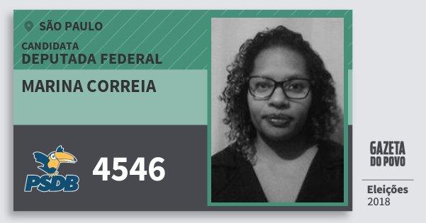 Santinho Marina Correia 4546 (PSDB) Deputada Federal | São Paulo | Eleições 2018