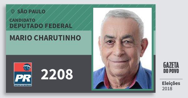 Santinho Mario Charutinho 2208 (PR) Deputado Federal | São Paulo | Eleições 2018