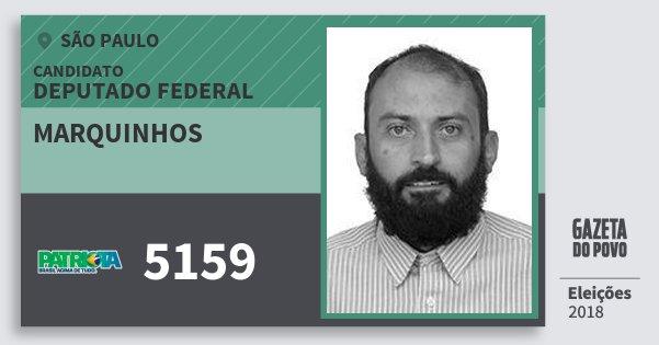 Santinho Marquinhos 5159 (PATRI) Deputado Federal | São Paulo | Eleições 2018