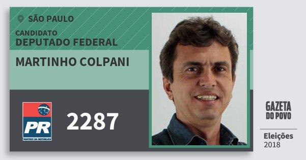Santinho Martinho Colpani 2287 (PR) Deputado Federal | São Paulo | Eleições 2018