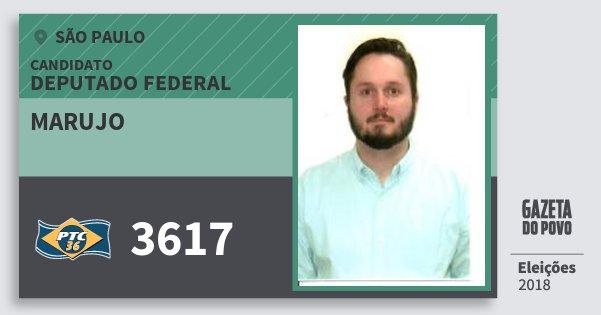 Santinho Marujo 3617 (PTC) Deputado Federal | São Paulo | Eleições 2018