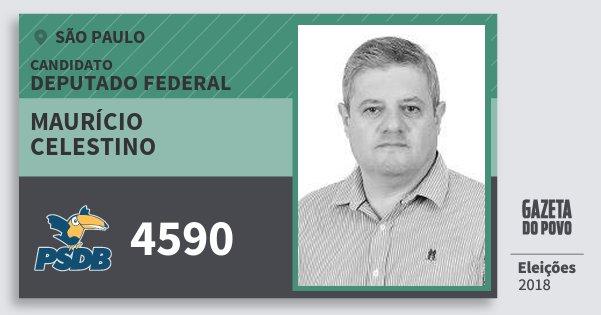 Santinho Maurício Celestino 4590 (PSDB) Deputado Federal | São Paulo | Eleições 2018