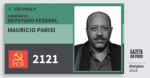 Santinho Mauricio Parisi 2121 (PCB) Deputado Federal | São Paulo | Eleições 2018