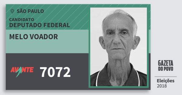 Santinho Melo Voador 7072 (AVANTE) Deputado Federal | São Paulo | Eleições 2018