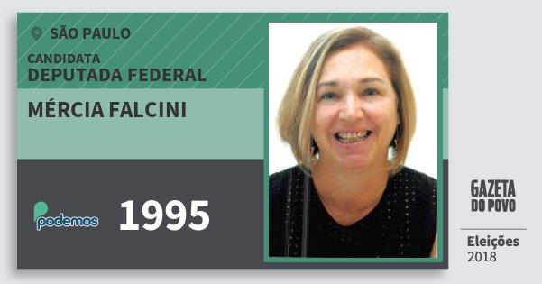 Santinho Mércia Falcini 1995 (PODE) Deputada Federal | São Paulo | Eleições 2018