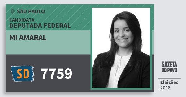 Santinho Mi Amaral 7759 (SOLIDARIEDADE) Deputada Federal | São Paulo | Eleições 2018