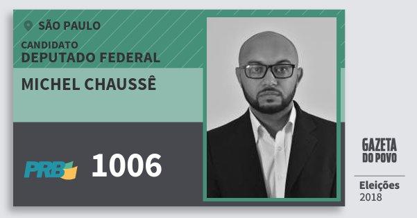 Santinho Michel Chaussê 1006 (PRB) Deputado Federal | São Paulo | Eleições 2018