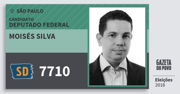 Santinho Moisés Silva 7710 (SOLIDARIEDADE) Deputado Federal   São Paulo   Eleições 2018