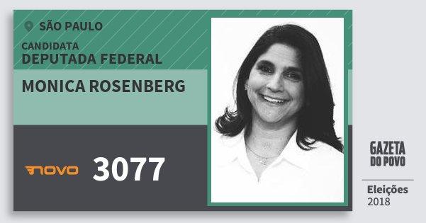 Santinho Monica Rosenberg 3077 (NOVO) Deputada Federal | São Paulo | Eleições 2018