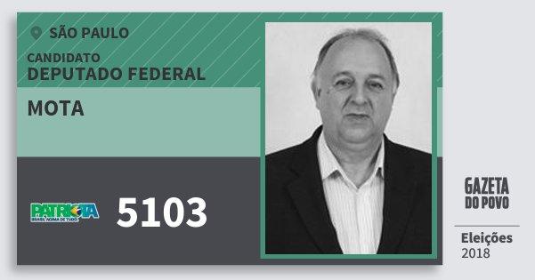 Santinho Mota 5103 (PATRI) Deputado Federal | São Paulo | Eleições 2018