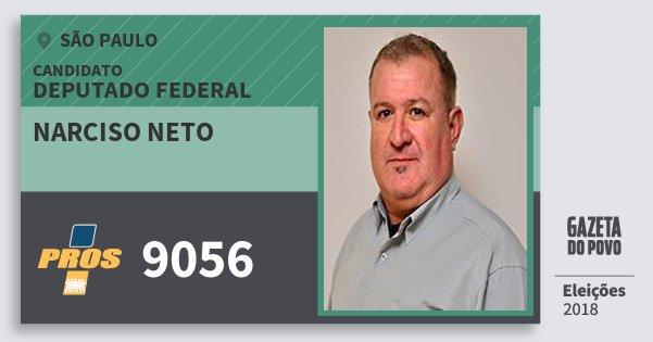 Santinho Narciso Neto 9056 (PROS) Deputado Federal   São Paulo   Eleições 2018