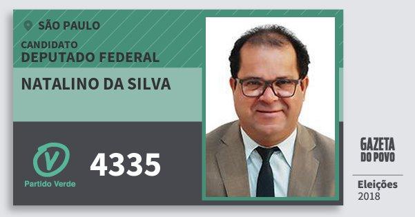 Santinho Natalino da Silva 4335 (PV) Deputado Federal | São Paulo | Eleições 2018