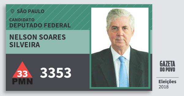 Santinho Nelson Soares Silveira 3353 (PMN) Deputado Federal | São Paulo | Eleições 2018