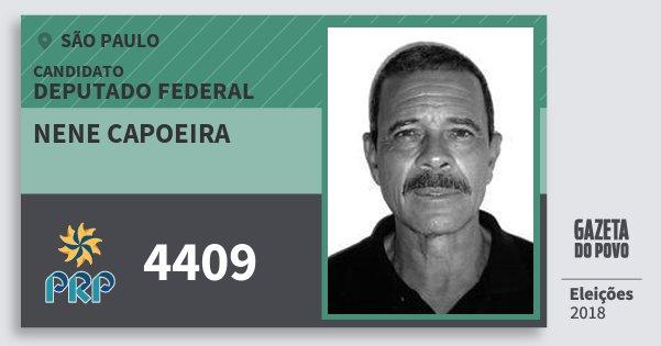 Santinho Nene Capoeira 4409 (PRP) Deputado Federal   São Paulo   Eleições 2018
