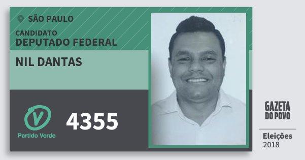 Santinho Nil Dantas 4355 (PV) Deputado Federal | São Paulo | Eleições 2018
