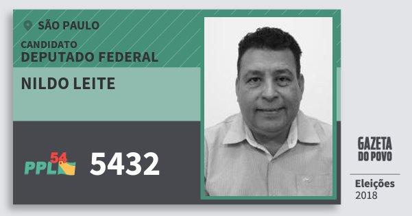 Santinho Nildo Leite 5432 (PPL) Deputado Federal | São Paulo | Eleições 2018
