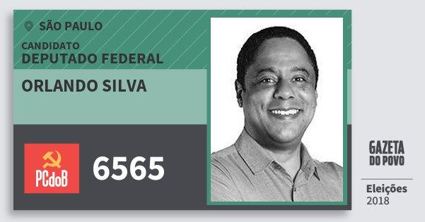 Santinho Orlando Silva 6565 (PC do B) Deputado Federal | São Paulo | Eleições 2018